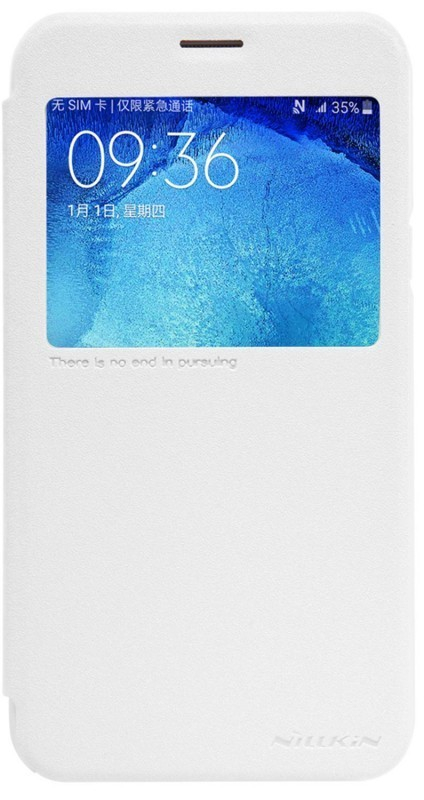 Чехол-книжка Nillkin Sparkle case Samsung Galaxy J5 J510 White - Фото 1