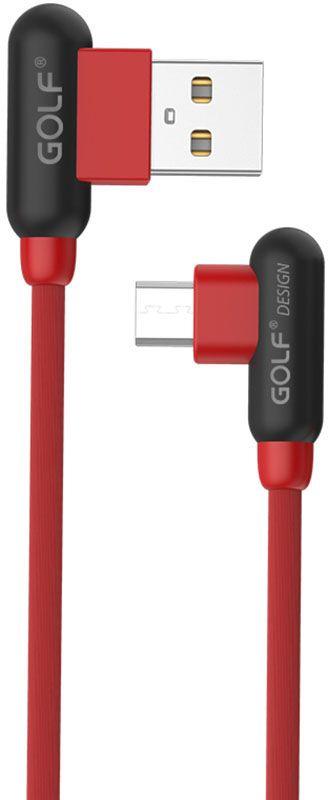 Купить Кабели и переходники, GOLF GC-45M Micro cable 1m Red
