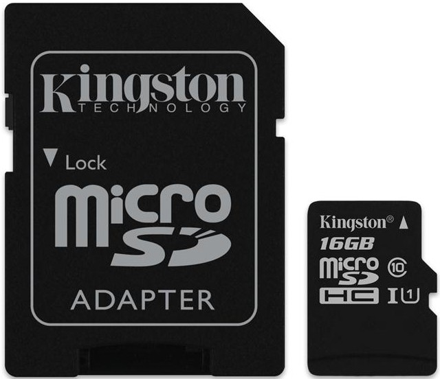 Карта памяти Kingston microSDHC/microSDXC class 10 UHS-I SD adapter 16Gb - Фото 1