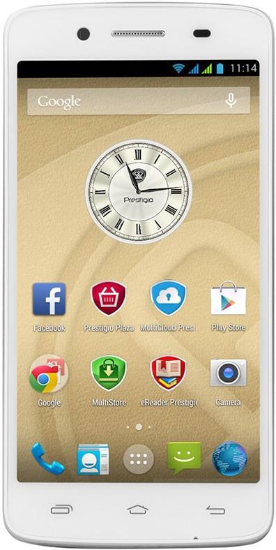 Смартфон Prestigio MultiPhone 5507 Duo White - Фото 1