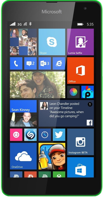 Смартфон Microsoft Lumia 535 Dual SIM Green - Фото 1