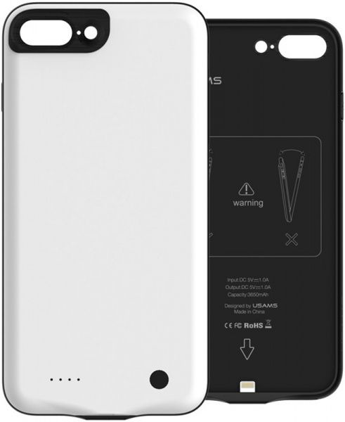 Usams Battery Case Jander Series 3650mah Apple iPhone 7 Plus White - фото
