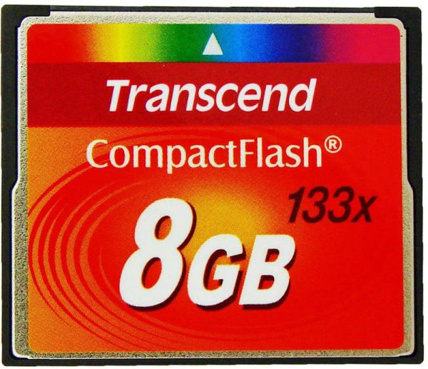 Transcend Compact Flash 133x 8Gb
