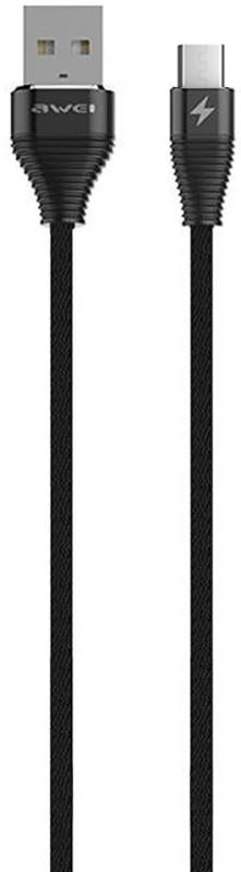 Купить Кабели и переходники, AWEI CL-28 Micro Cable 2m Black