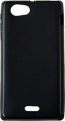 Чехол-накладка Drobak Elastic PU для Sony Xperia J Black - Фото 1