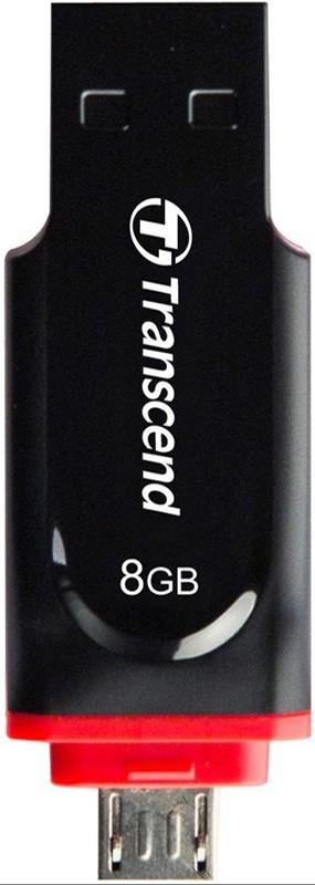 USB Flash Transcend JetFlash 340 OTG 32Gb Black - Фото 1