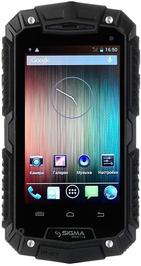 Смартфон Sigma mobile X-treme PQ16 Black - Фото 1