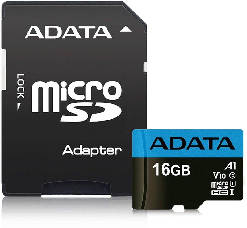Купить Карты памяти, ADATA microSDHC class 10 UHS-1 SD adapter 16Gb