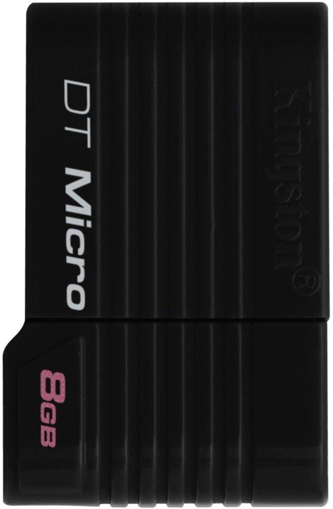 USB Flash Kingston DataTraveler DTMicro 8Gb Black - Фото 1