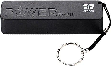 Портативная батарея Drobak Power 1200 mAh/Li-Pol/ Black - Фото 1