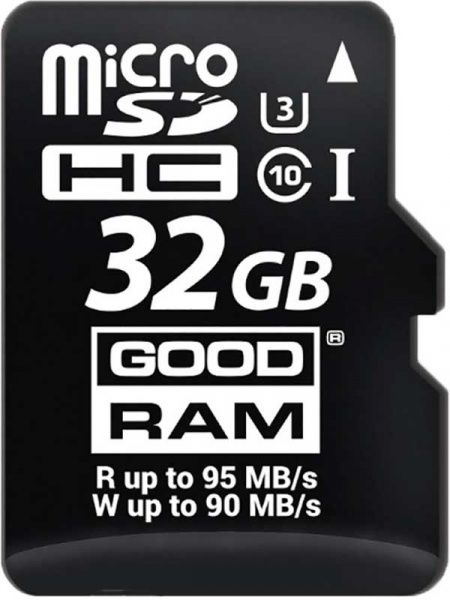Goodram microSDHC/SDXC class 10 UHS-1 U3 SD adapter R95/W90MB/s 32Gb
