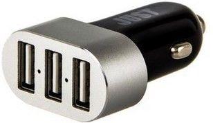 Автомобильное зарядное устройство JUST Evo Trio USB (6.3A 31W 3USB) Black - Фото 1