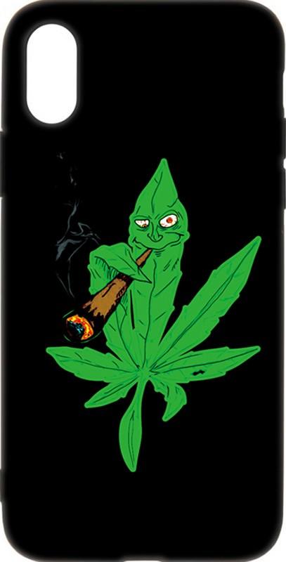 Купить Чехлы для телефонов, TOTO Cartoon Soft Silicone TPU Case Apple iPhone XS Max Cannabis Black