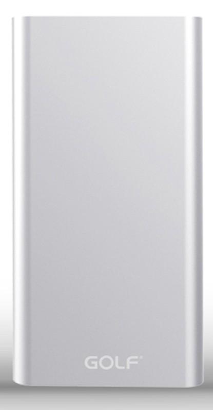 Портативная батарея GOLF Power Bank 10000 mAh Edge 10 Li-pol Silver - Фото 1