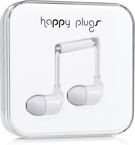 Наушники Happy Plugs In-Ear White - Фото 1