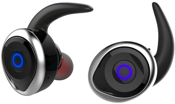 AWEI T1 Twins Earphones Black-Silver - фото