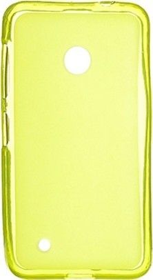Чехол-накладка Drobak Elastic PU для Nokia Lumia 530 Dual Sim Yellow\Clear - Фото №1