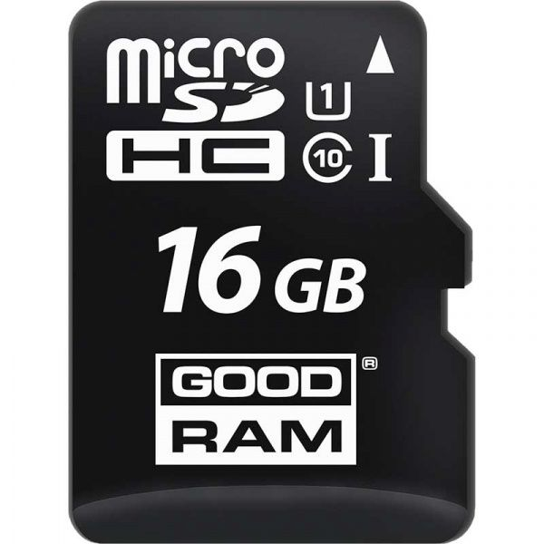 Goodram microSDHC class 10 UHS-1 SD adapter OTG Card reader 16Gb