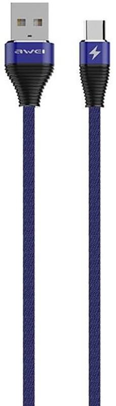 Купить Кабели и переходники, AWEI CL-29 Type-C Cable 2m Blue