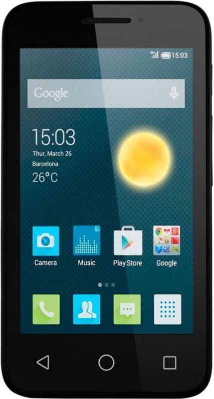 Смартфон Alcatel One Touch PIXI 3 4013D Black Front - Фото 1