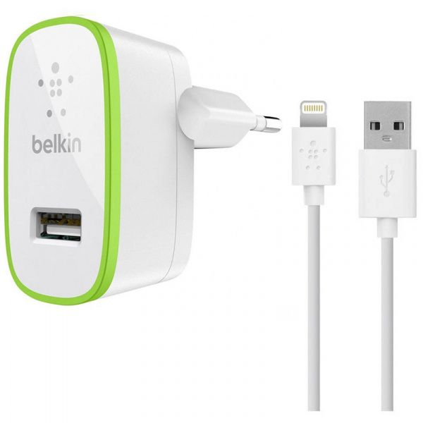 Belkin Travel charger 1USB 2.1A + Lightning cable White - фото