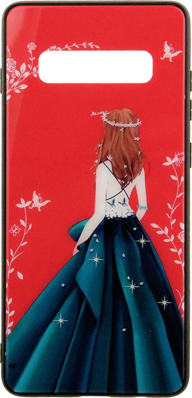 Купить Чехлы для телефонов, TOTO Glass Fashionable Case Samsung Galaxy S10+ Green Dress Girl