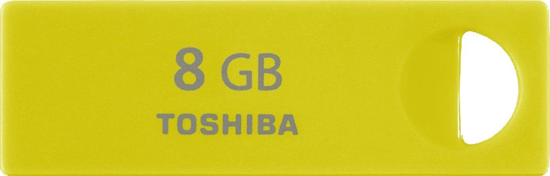 USB Flash Toshiba ENSHU 8Gb Yellow - Фото 1