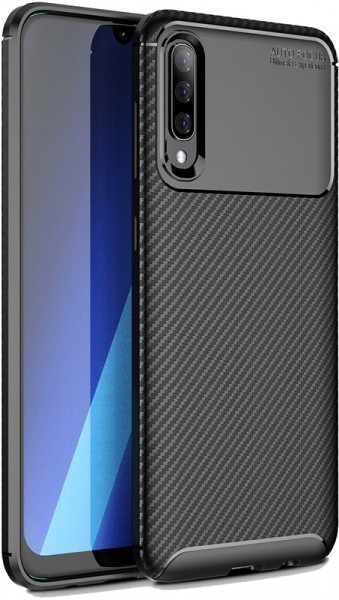 TOTO TPU Carbon Fiber 1,5mm Case Samsung Galaxy A30s/A50/A50s Black