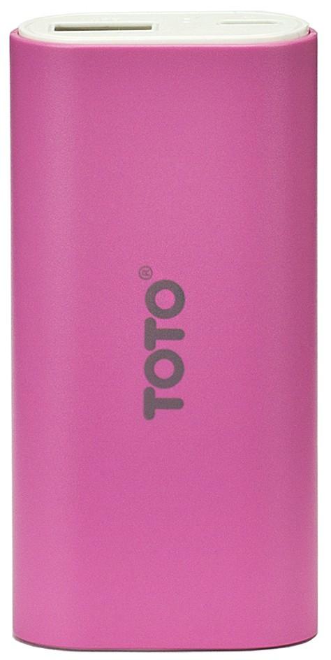 Портативная батарея TOTO TBG-18 Power Bank 5000 mAh 1USB 1A Li-Ion Pink - Фото 1