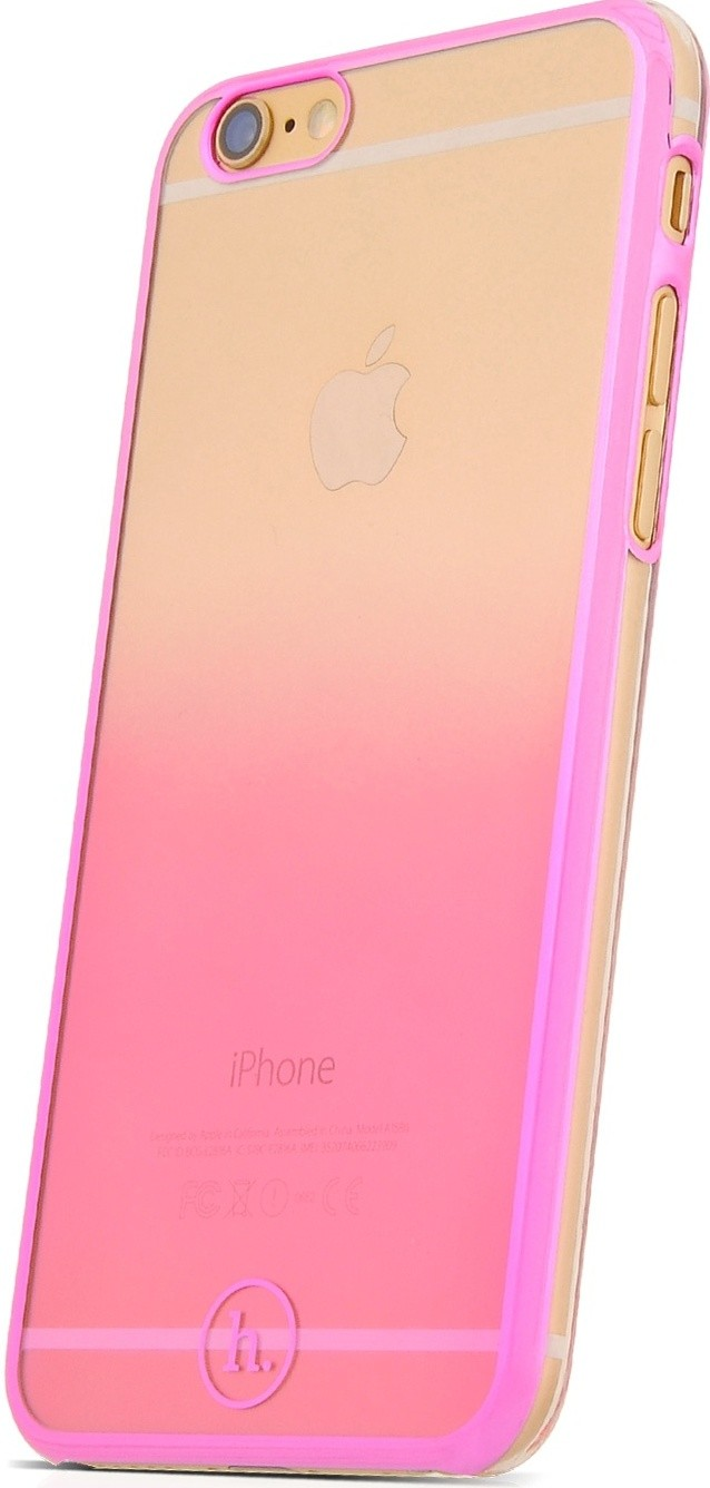 Чехол-накладка HOCO TPU cover Defender series Gradient iPhone 6/6s Pink - Фото 1