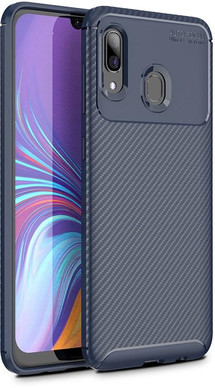 Чехлы для телефонов, TOTO TPU Carbon Fiber 1, 5mm Case Samsung Galaxy A20/A30 Dark Blue  - купить со скидкой