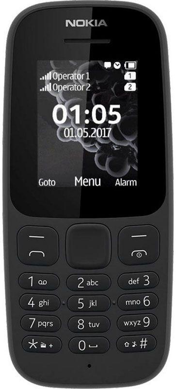 99f0bbe5d95 Nokia 105 Single Sim New Black. Мобильный телефон ...