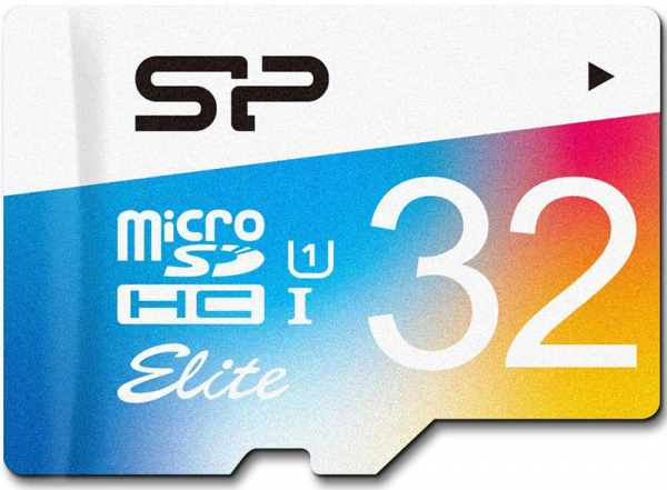 Silicon Power microSDHC 32GB Class 10 UHS-I Elite Color + adapter