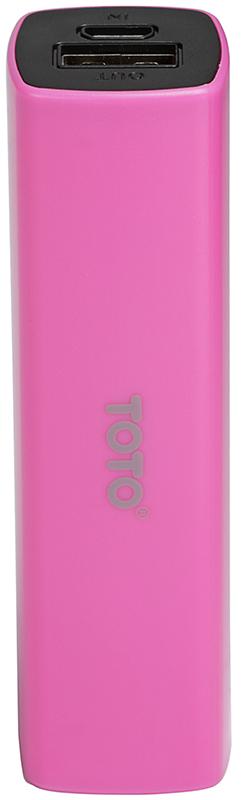 Портативная батарея TOTO TBG-16 Power Bank 2000 mAh 1USB 1A Li-Ion Pink - Фото 1