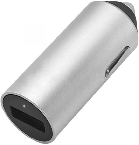 BUDI Car charger 1USB 2.4 A Silver