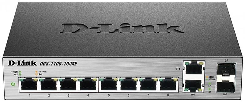 Коммутаторы, D-Link DGS-1100-10/ME  - купить со скидкой
