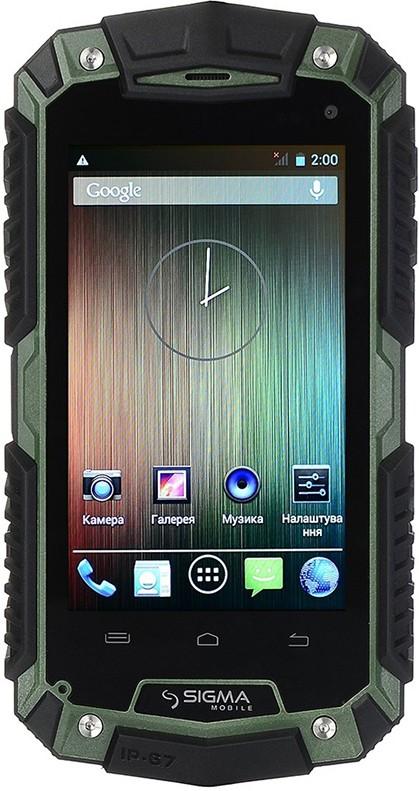 Смартфон Sigma mobile PQ15 Green/Black - Фото 1