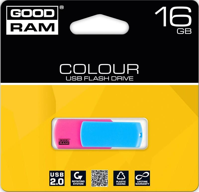 USB Flash Goodram COLOUR MIX RETAIL 9 16Gb Pink - Фото 1
