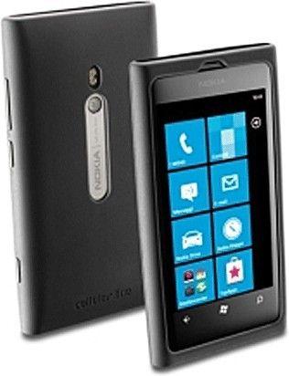Чехол-накладка Cellular Line для Nokia Lumia 800 Black - Фото 1