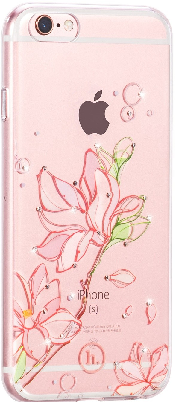 Чехол-накладка HOCO TPU case Super star series inner Diamond iPhone 6/6s Orchid tree - Фото 1