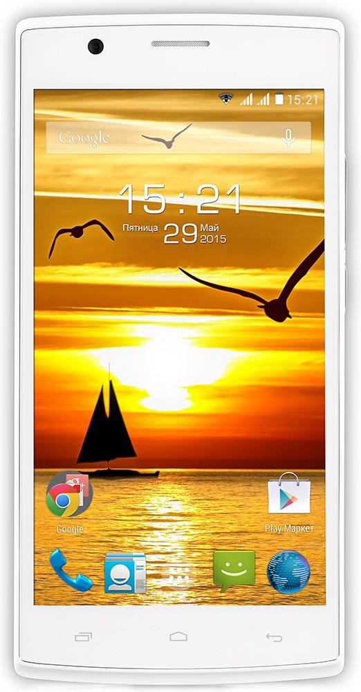 Смартфон Fly FS501 Nimbus 3 White - Фото 1