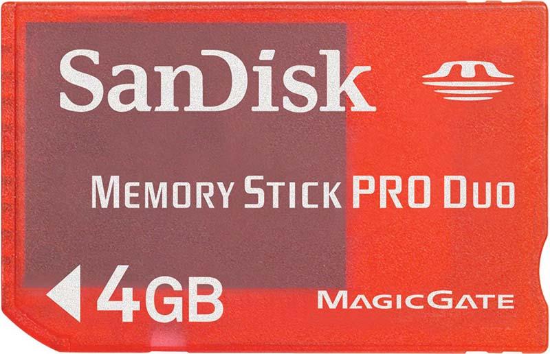 Карта памяти SanDisk Memory Stick PRO Duo 4Gb - Фото 1