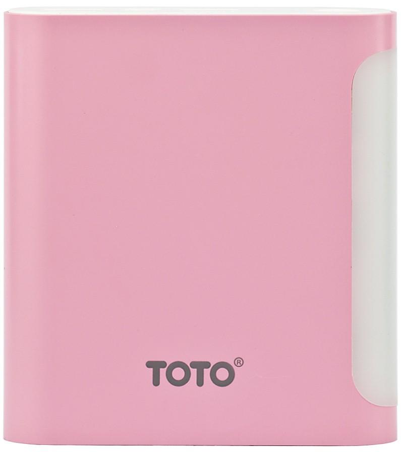 Портативная батарея TOTO TBG-47 Power Bank 10000 mAh 2USB 3,1A Li-Ion Pink - Фото 1
