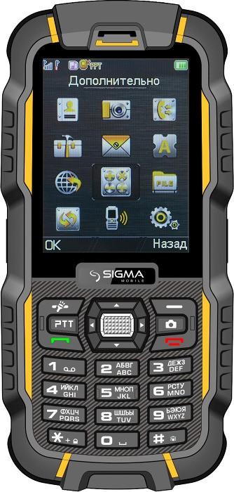 Мобильный телефон Sigma mobile DZ67 Travel X-treme Orange Black - Фото 1