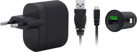 Сетевое зарядное устройстройство Belkin USB Charger Kit/220V/12V + microUSB cable/1A/F8M124CW - Фото 1