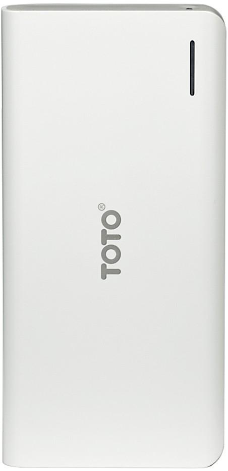 Портативная батарея TOTO TBG-45 Power Bank 16000 mAh 2USB 3,1A Li-Ion White - Фото 1