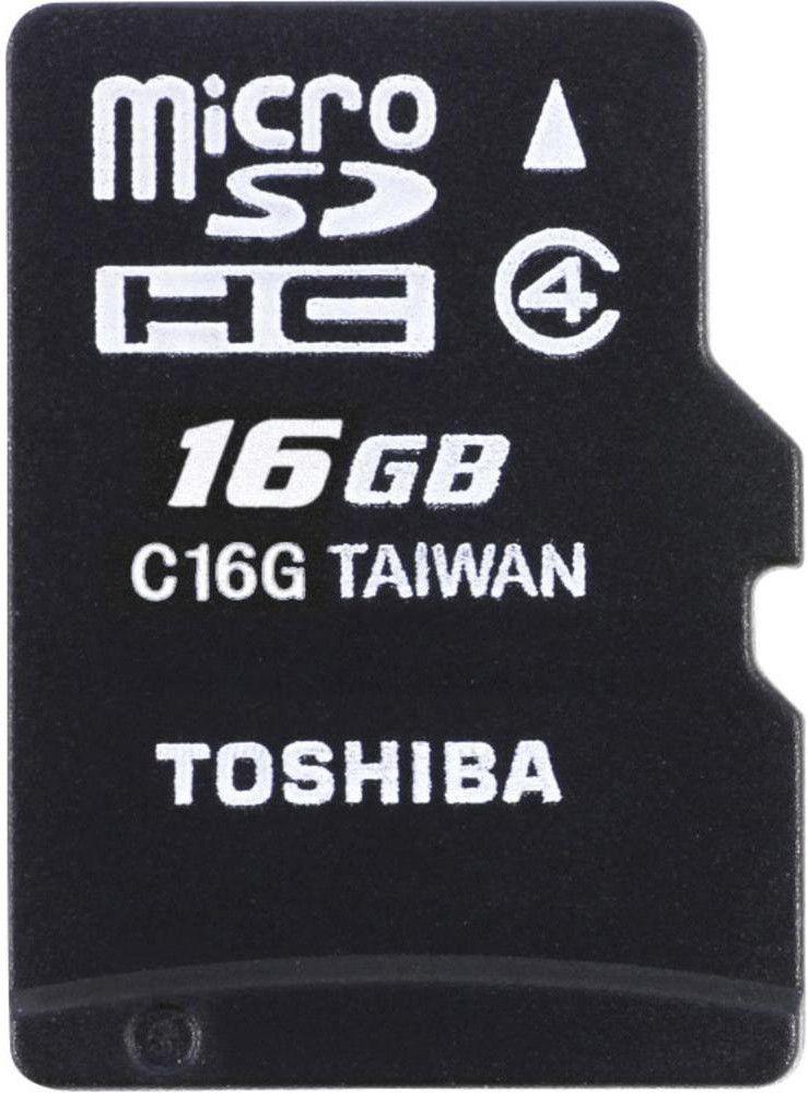 Карта памяти Toshiba microSDHC 16Gb class 4 + adapter - Фото 1