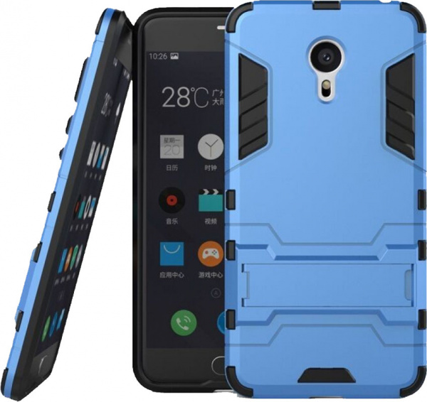 TOTO TPU+PC Shockproof case Meizu M3 Note Blue - фото