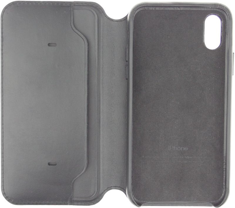 Apple Book Cover Case iPhone X Dark Gray