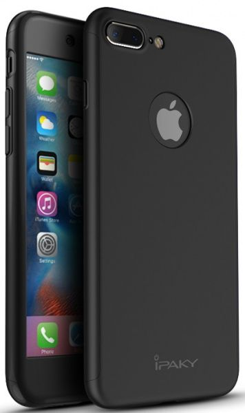 Ipaky 360 PC Whole round case 3 in 1 iPhone 7 Plus Black - фото